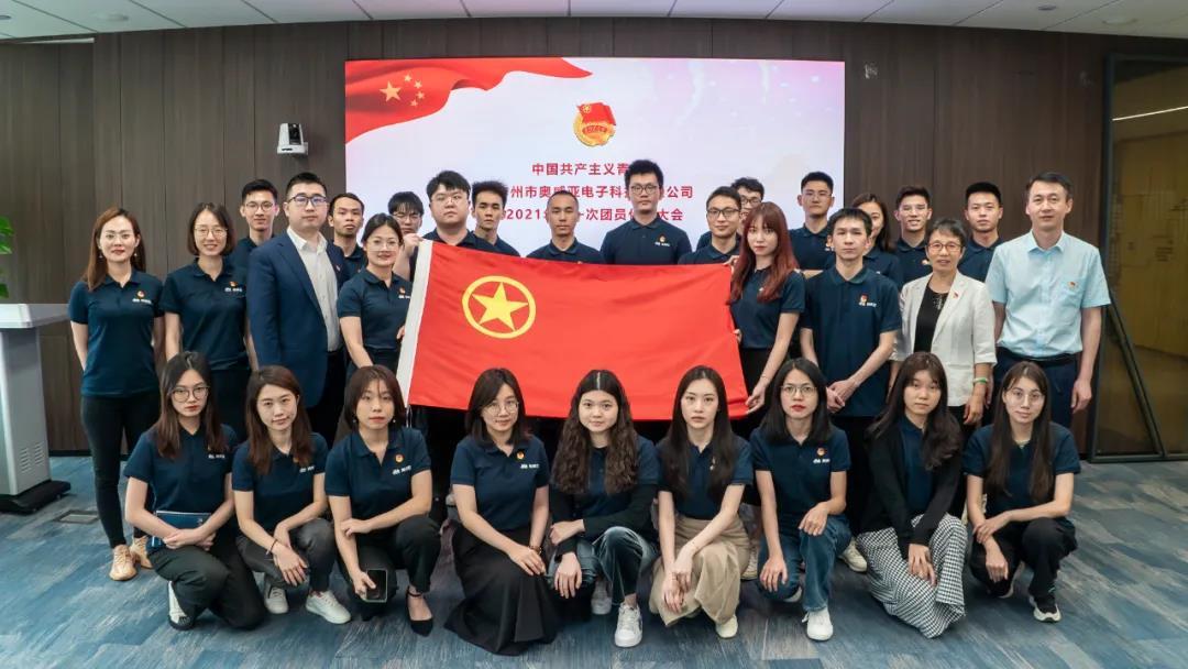 中国共产主义青年团广州市奥威亚电子科技有限公司第一届总支部委员会正式成立